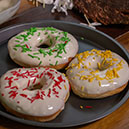 Baked Doughnuts with White Chocolate Glaze