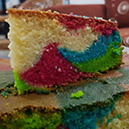 Colorful Marble Cake